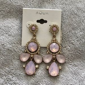 Aqua Blush Jeweled Earings